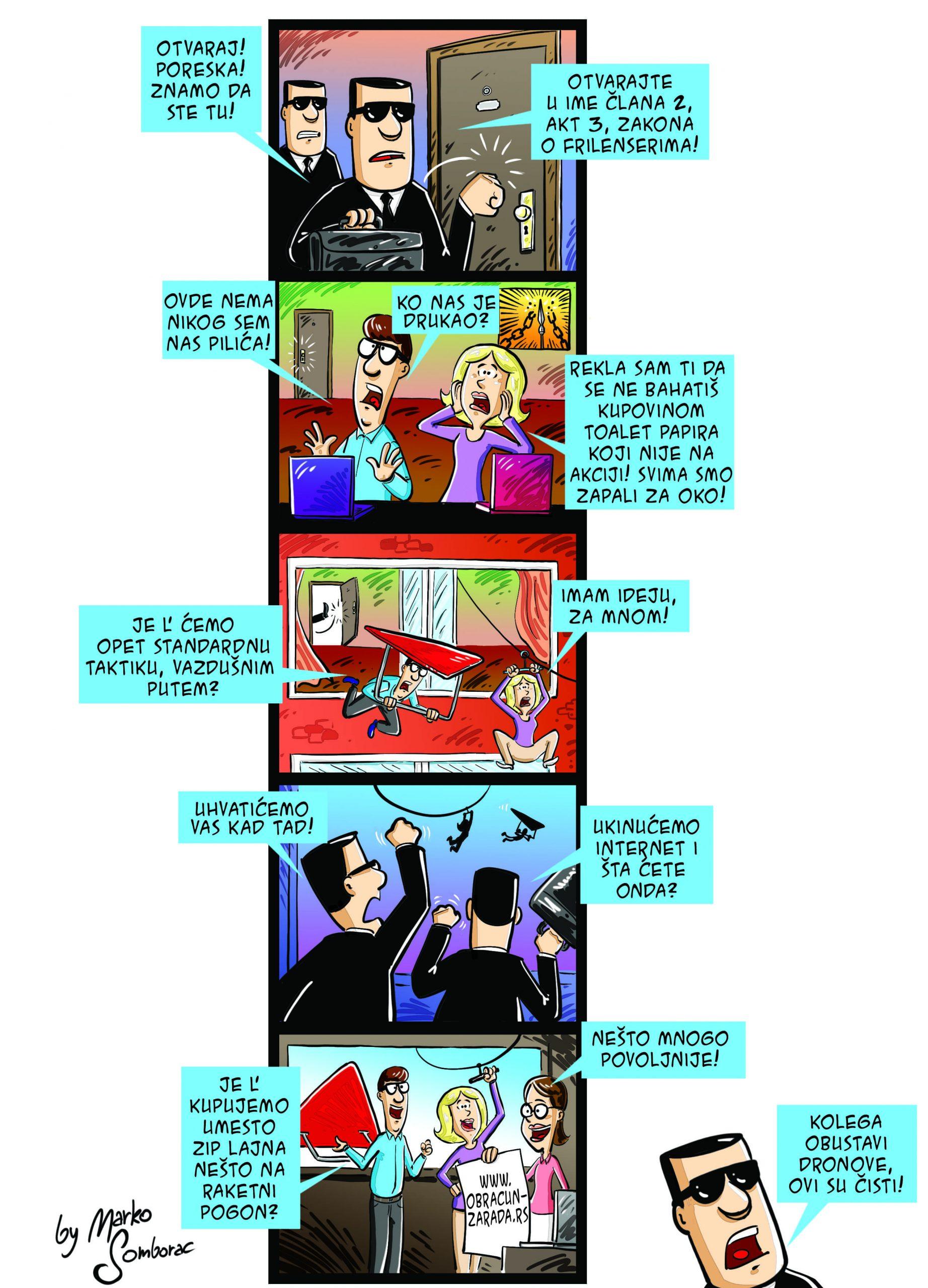 Obracun zarada knjigovodstvo Frilenseri strip Marko Somborac